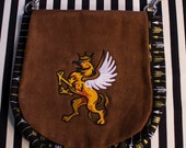 Pouch Spare Pocket Embroidery Griffon Gryphon Heraldry Tattoo
