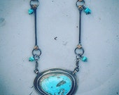 Rustic Turquoise Necklace, Pilot Mountain Turquoise