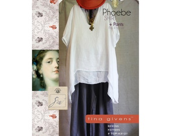 Tina Givens PHOEBE SHIRT + PANTS Sewing Pattern