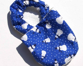 Snowmen Soft Soled Baby Shoes 0-6 mo