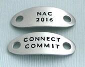 AKC National Championship Shoe Tags - Hand Stamped Pewter - NAC 2016 - NOC 2016 - Nrc 2016