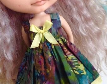 Dress for Blythe - Beautiful Batiks #1