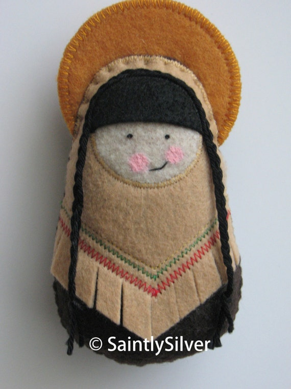 Saint Kateri Tekakwitha...Felt Softie