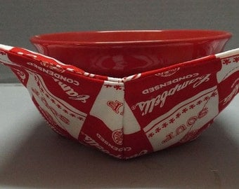 Microwave Bowl Cozy or Potholder Um, Um Good Fabric