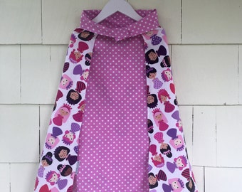 Princess Dress Up Cape | Reversible Orchid Polka Dot | Costume