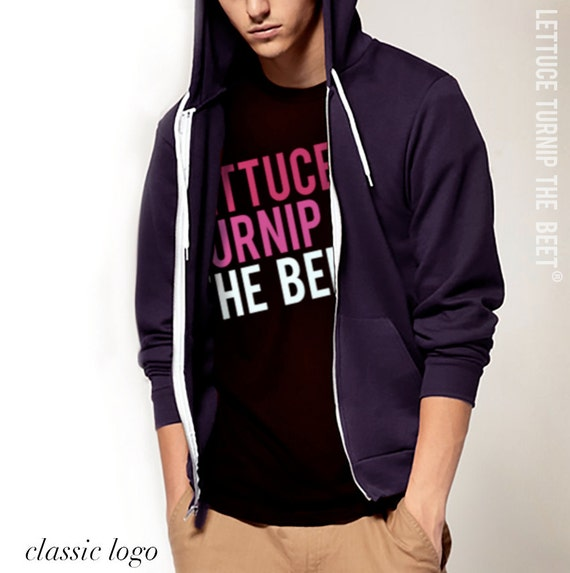 SALE lettuce turnip the beet ® trademark brand OFFICIAL SITE - dark grey heather shirt with pink classic logo