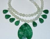 Green Jade Necklace Kit #kit3