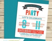 Joint Combined Birthday Party Invitation - Friend Sibling Birthday Invitation- Printable Invitation - Custom Colors