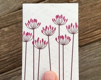 enclosure card / mini card / floral seeds