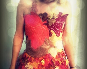 Leaf Dress , Mother nature , scarecrow
