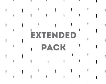 Extended Pack for Baby Memory Book and Photo Album (monthly photos, events, holidays, milestone photos, and birthdays)