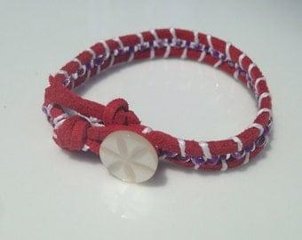 dark red button bracelet