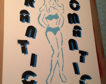 Frantic Romantic by the Scientists stencil painting