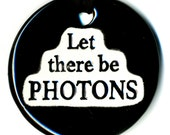 Let There Be Photons Ceramic Necklace in Black