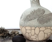 Feather + Stone Canteen Vase
