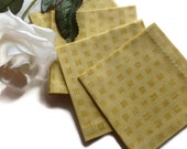 Set of 8 - Mustard Yellow Fabric Cocktail Napkins Eco Friendly 100% Cotton Beverage Napkins Appetizer Napkins - set of 6
