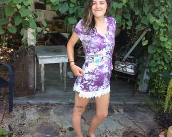 Maude tunic frock/medium/Upcycled  Clothing /Eco-friendly/Handmade by CarLe Etc