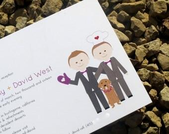 Gay Wedding Invitations - Custom - Wedding Invitations - Same Sex Invite