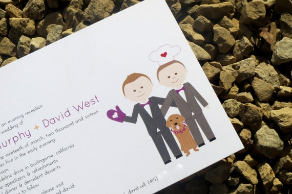 Gay Marriage Wedding Invitations: Gay Wedding Invitations Custom Wedding Invitations Same