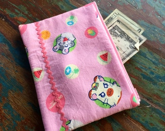 medium zipper pouch hamtaro hamster