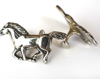 Ford Mustang or Pony Cufflinks in Sterling SIlver