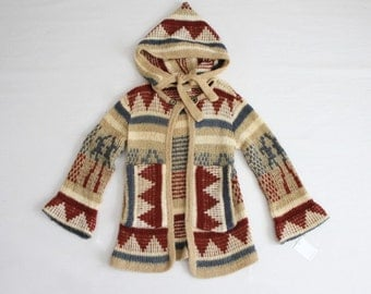 blanket sweater jacket / mohair jacket / hooded sweater