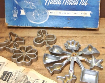 Free Shipping Lot of  Waffle Rosette Mold s In box with instructions