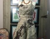 1970s sundress 70s cotton dress size small Vintage boho dress