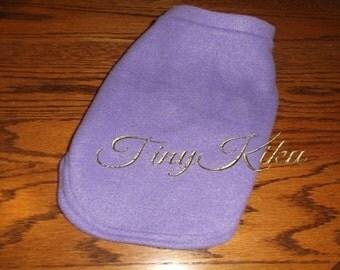 LILAC Classic FLEECE Dog Coat/Sweater Yorkie  (xxxs-xxs-xs-s-m-l) or Any Color