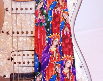 Our Lady of Guadalupe red hipster guitar strap