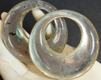2 Vintage Glass Ring Large Finding Jewelry Supply