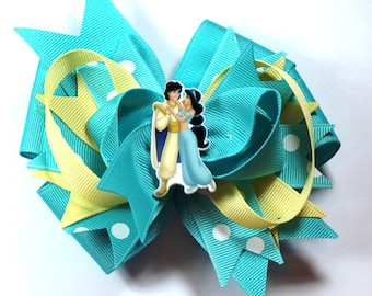 Boutique Jasmine Aladdin Inspired Resin Hair Bow Clip