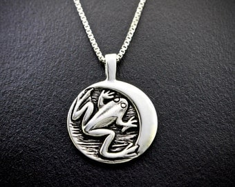 Moon Of Frogs Returning (May) Necklace, sterling silver