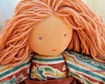 Waldorf doll 18inch, friendly for all ages, made of natural materials
