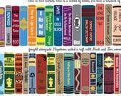 "Rory's Books Fabric, Gilmore Girls-Inspired-- fat quarter 18"" x 22"""