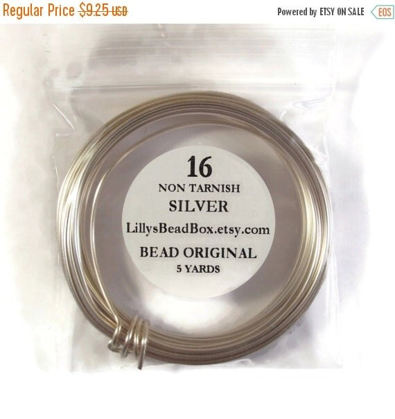 May SALE Silver Plated Wire, 16 Gauge Round Wire for Making Jewelry, Non Tarnish Wire, Wire Wrapping Supplies, 5 Yard Spool