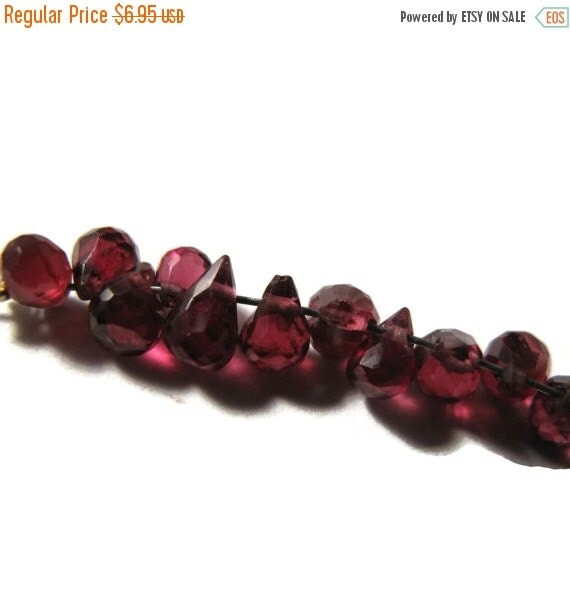Solstice SALE-2 Days Only Imperfect Lot : 18 Rhodolite Garnet Briolettes, TINY! 5x3mm-6x4mm, Natural Gemstones for Making Jewelry (B-Rho2)