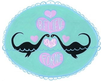 I Believe You're the One For Me Nessie love card