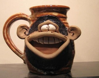 Happy Monkey Mug ....                                             e782