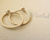 14k solid gold hammered hoops endless hoop earrings tiny rustic organic round shape