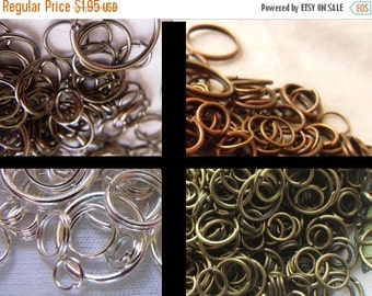 20% off sale Pick Your Plating Jump Ring Mix 7-15mm Red Copper, Gunmetal, Silver or Brass Ox 1 ounce about 200 Pcs