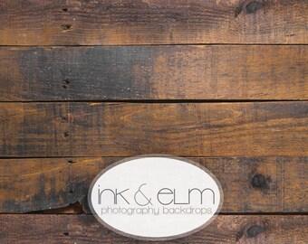 "Wood Backdrop 5ft x 5ft, Vinyl Photography Floordrop / Backdrop, Photo Rustic Old brown Wood Floor, wood Photo backdrop, ""Forest Ridge"""