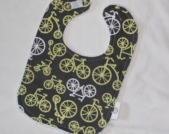 Yellow Bicycles and Chenille Bib
