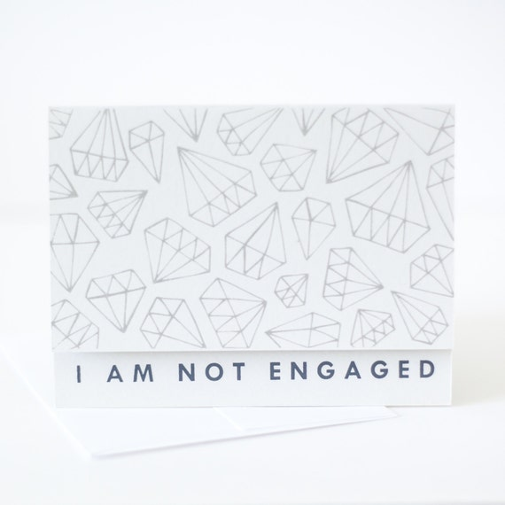 funny friend card opposite of engagement card