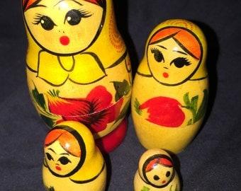 Vintage Russian Nesting Dolls