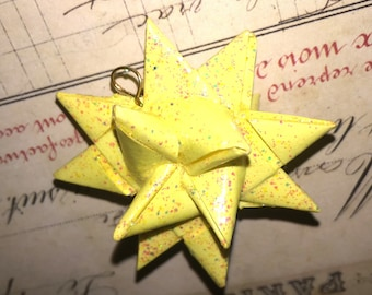Hand Crafted Paper Star Ornament