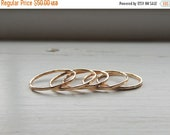 On Sale 20% off Thin Gold Stackable Rings - Gold Filled Stacking Rings - Midi Rings