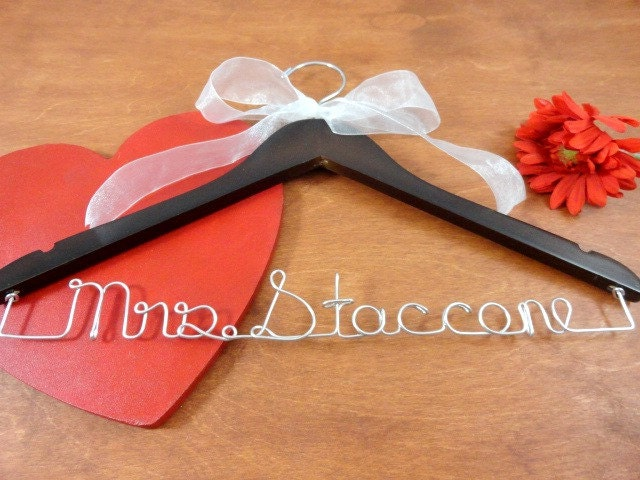 Custom bridal hangers personalized hangers wedding dress for Wedding dress hangers personalized