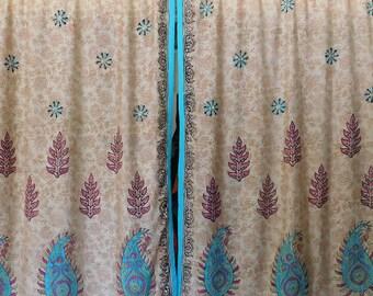 Bohemian Sari Curtains