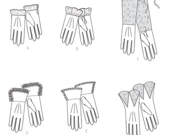 Diy Sewing Pattern-Butterick 6398-Gloves One Size Costume, Steampunk, Cosplay
